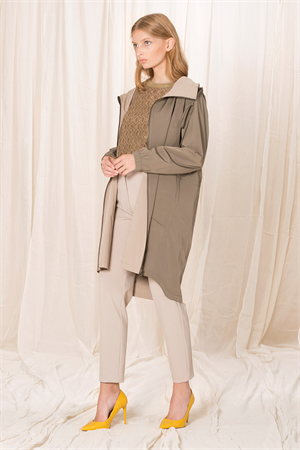 TRENCHCOAT WITH FRONT ZIPPER